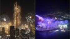 """بالفيديو/الإمارات تدخل """"غينيس"""" برقمين قياسيين ليلة رأس السنة: أكبر عدد طائرات بدون طيار لإطلاق الألعاب النارية بوقت واحد وأطول شلال ألعاب نارية بالعالم بامتداد 3788م"""