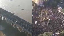 بالفيديو/ الملايين احتشدوا في الشوارع لتشييع الفريق سلَيما  ني في مدينة اهواز الايرانية