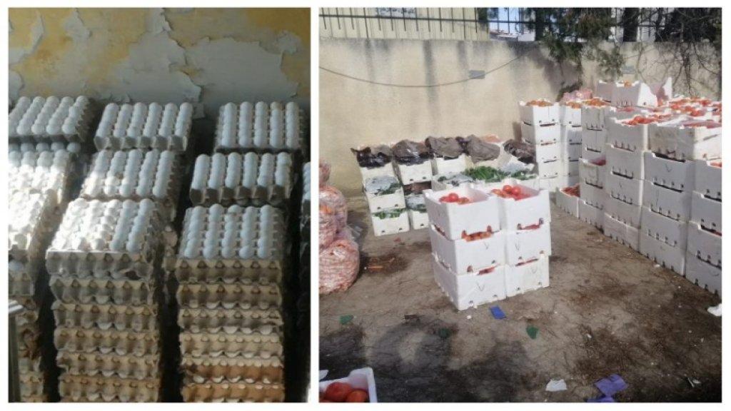 بالصور/ ضبط بضائع سورية مهربة من البيض والبندورة والجزر من قبل الجمارك في البقاع!