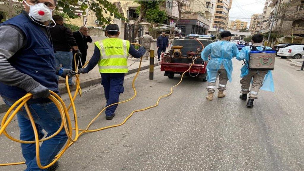 حملة تعقيم في الاماكن العامة ودور العبادة في بيروت