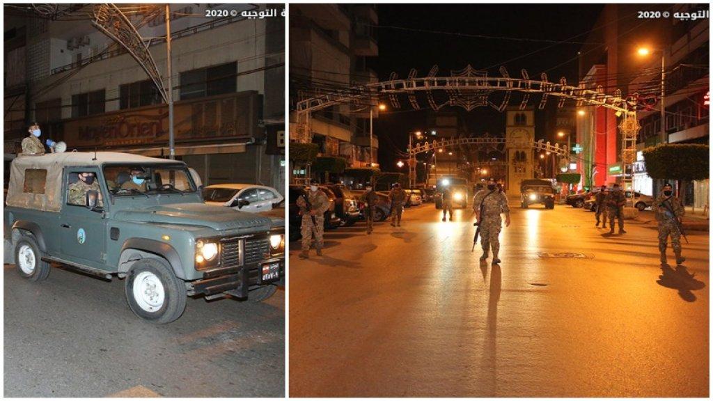 بالصور/ هكذا انتشرت وحدات الجيش في المناطق كافة إجراءات استثنائية تطبيقاً لقرار حظر التجوّل من الـ7 مساءاً حتى الـ 5 صباحاً
