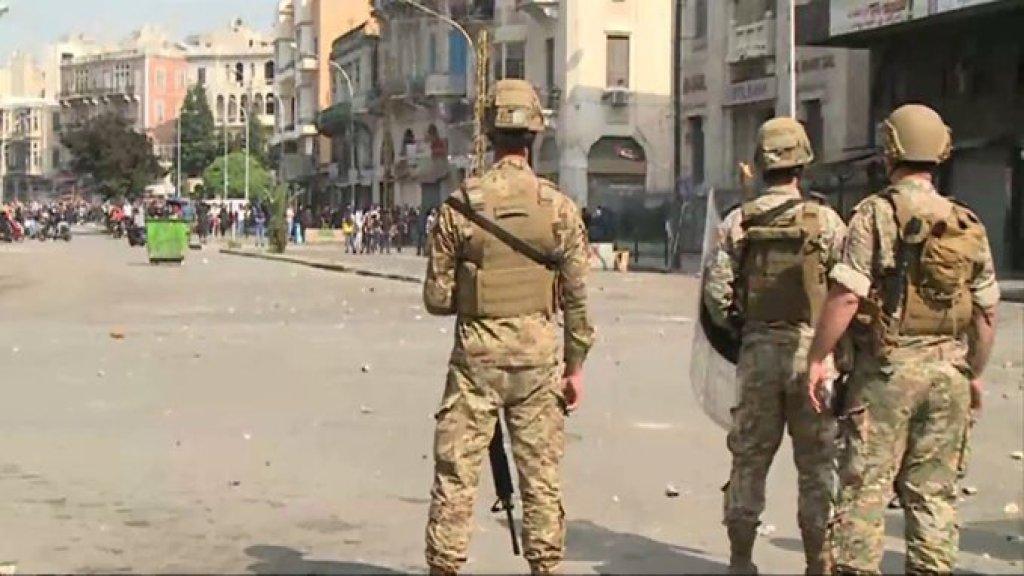 تقدم وحدات من الجيش باتجاه الاحياء الشعبية في طرابلس لمحاصرة المحتجين