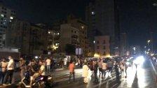 محتجون قطعوا جسر الرينغ بالاتجاهين