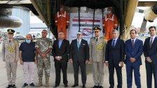 وصول الموجة الثالثة من الجسر الجوي المصري والمكونة من 14 طنا من المساعدات الدوائية