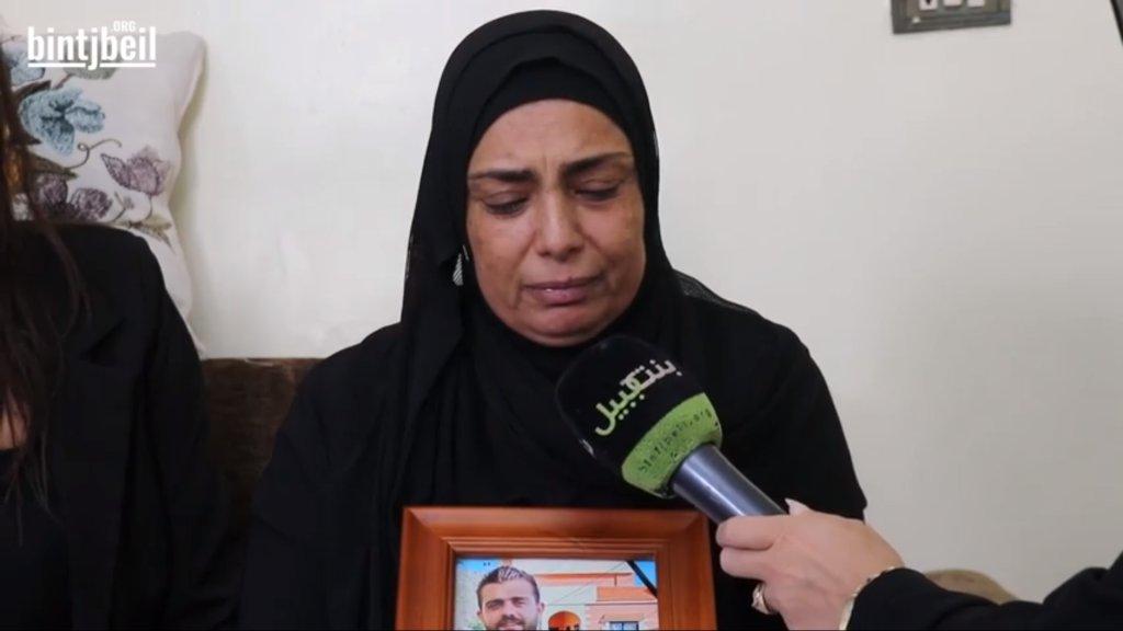 بالفيديو/ في طريق الجديدة...عائلة الشهيد أحمد قعدان تروي وقع مأساة انفجار بيروت الذي أودى بحياة وحيد أمه
