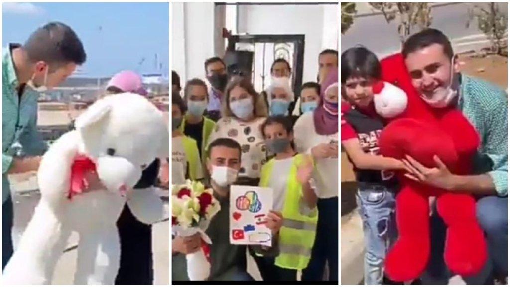 بالفيديو/ هذا ما فعله الشيف التركي بوراك خلال زيارته الى بيروت بعد إنفجار المرفأ