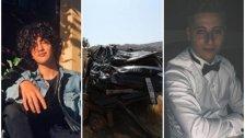 الشابان جميل قواص وعبد العزيز ادلبي ضحايا حادث سير مروع وقع امس في بحمدون