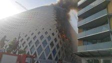 الحريق المندلع في المجمّع التجاري قيد الانشاء في وسط بيروت يعرف بمبنى زها حديد، المهندسة المعمارية العالمية التي قامت بتصميمه