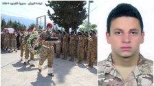 بالصور/ قيادة الجيش وأهالي بلدة عندقت شيعوا العريف الشهيد أنطوني جوزاف تقلا الذي استشهد أثناء مداهمة منزل إرهابي في البداوي