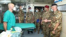 بالصور/ قائد الجيش يتفقد المستشفى الميداني الإيطالي  في مدينة رفيق الحريري الجامعية – الحدث