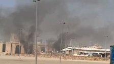 فيديو لحريق في المدينة الرياضية ينتشر على مواقع التواصل