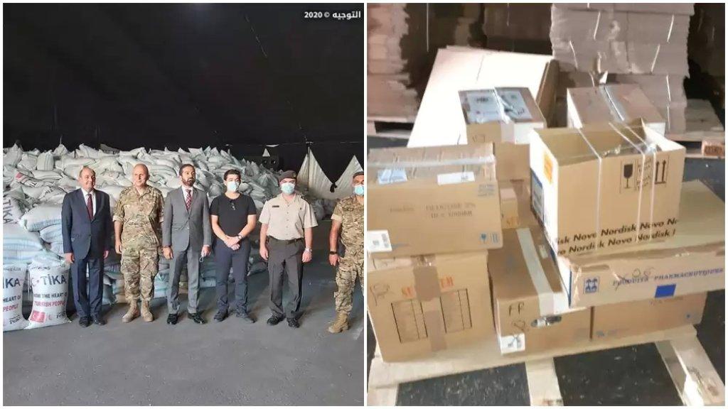 بالصور/ باخرة تركية محملة بحوالى 340 طن من القمح رست في مرفأ بيروت