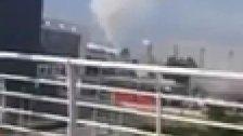 فيديو متداول يظهر تصاعدا للدخان من مطار بيروت اليوم