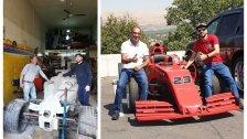 """أوّل سيّارة في لبنان بتصميم وقياسات مطابقة تماماً لسيارات رياضة الـ""""فورمولا وان""""...صممها الأب وابنه وحققوا الحلم بالإمكانيات المتواضعة!"""