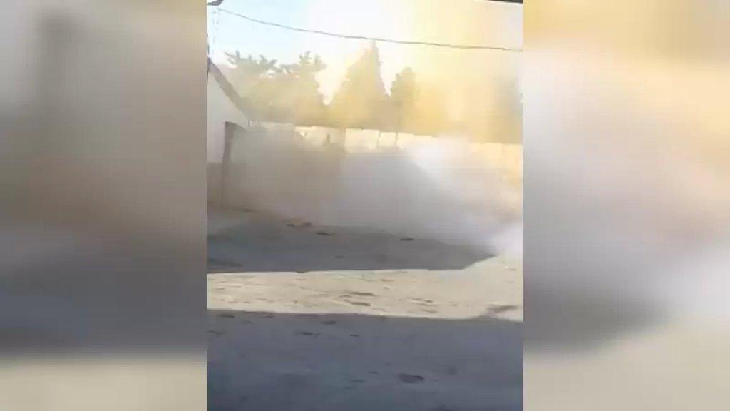 بالفيديو/ لحظة تفجير الحزام الناسف الذي كان بحوزة الارهابي الذي هاجم فجراً مركز الجيش في عرمان - المنية