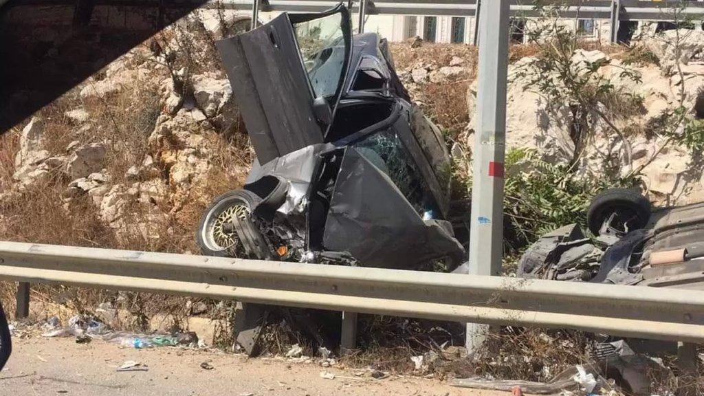 حادث تصادم مؤلم على طريق الرميلة- صيدا