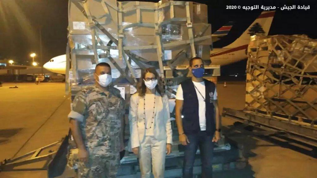 بالصور/ الجيش: وصول طائرة محملة بحوالى 1500 كلغ من المساعدات الطبية مقدّمة هبة من الدولة الإيطالية لصالح منظمة الصحّة العالمية