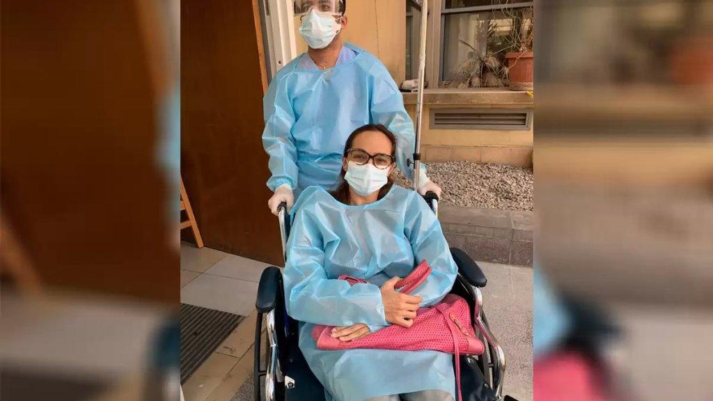الإعلامية ناديا بساط تنشر صورة من معركة تصديها للكورونا: ضهرت من المستشفى...قربت اربح!