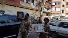 الجيش: وزيع حوالى2000 حصة غذائية في مناطق جبل محسن وباب التبانة والبداوي والمنكوبين في الشمال