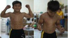 """بالفيديو/ متلازمة """"سوبرمان"""" النادرة تصيب هذا الطفل الفيتنامي...حصل على عضلات مفتولة وعمره 10 سنوات!"""