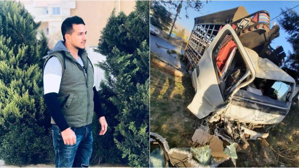 """حادث سير مروع يخطف حياة إبن الـ 21 عاما...اصطدم الـ""""بيك آب""""  بفاصل إسمنتي على أوتوستراد رياق بعلبك"""