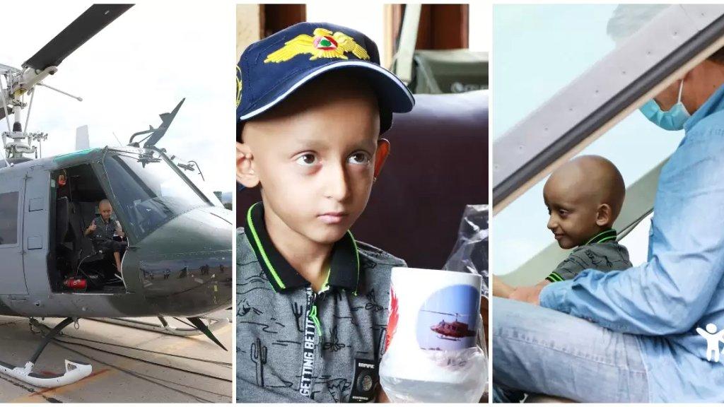 """بالصور/ """"بحب ابطال الجيش وخاصة الطيران."""".. المحارب الصغير """"محمود"""" في زيارة إلى القيادة الجوية للجيش اللبناني!"""