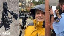 الإعتداء على الزميل عباش شهاب في أميركا أثناء تغطية أجواء الإنتخابات وتحطيم كاميرته