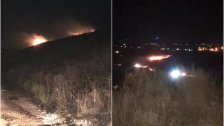 """بالصور/ الحريق الذي إندلع في مرج التليل - عكار جراء سقوط ما قيل أنه """"شهب ناري"""" !"""