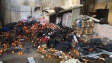 """بالفيديو/ انفجار تعنايل... عمال كانوا يقومون بعملية """"تلحيم"""" بالقرب من مخمر للمانغا ما أدى إلى وقوع الإنفجار وسقوط قتيل وجرحى! (الجديد)"""