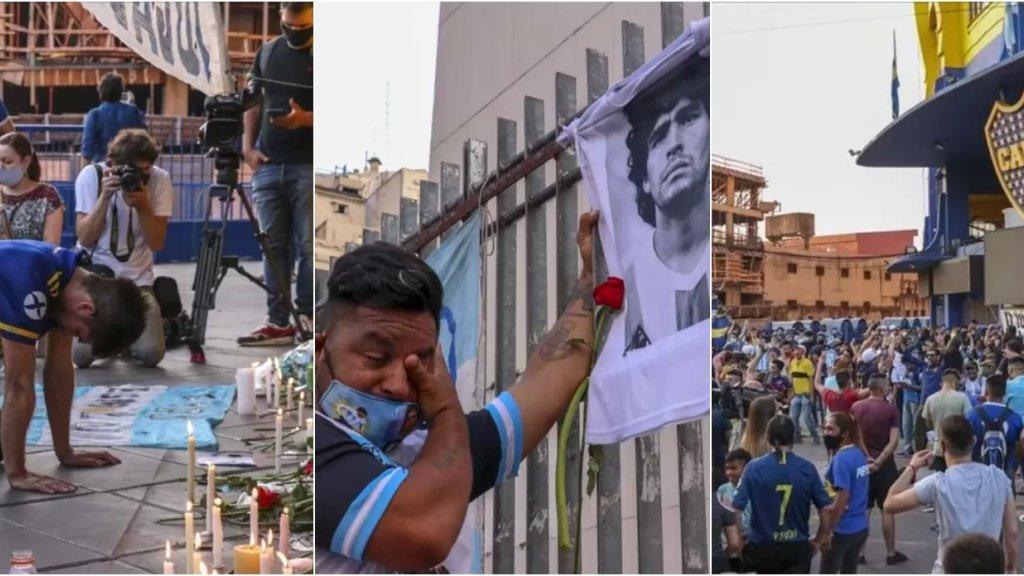 """بالصور/ الشعب الأرجنتيني ينزل الشوارع حزنا بعد وفاة """"مارادونا""""... """"شكرا لك دييغو"""""""