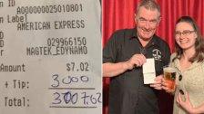 إكرامية بقيمة 3000 دولار لمطعم في أميركا تركها زبون بمفاجأة غير متوقعة...الفاتورة كانت 7$ فقط!
