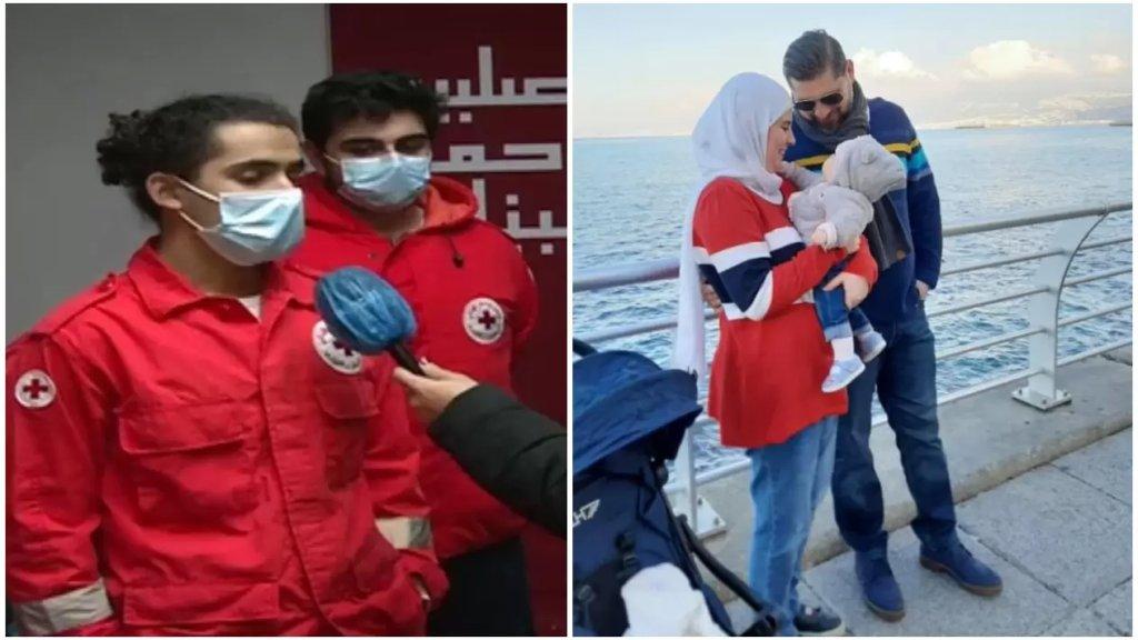"""بالفيديو/ بعد الصورة المؤثرة... """"زياد"""" المسعف في الصليب الأحمر الذي إحتضن الطفلة """"جودي"""" يروي تفاصيل الحادث"""