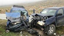 بالصور/ قتيل و 4 جرحى في حادث سير مروع على طريق عام حوش القنعبي قضاء راشيا