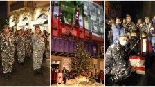 بالصور/ قوى الامن تضيء شجرة الميلاد في الجميزة تخليداً لذكرى شهداء انفجار المرفأ وتكريماً لجمعيات المجتمع المدني