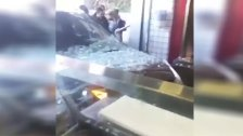 بالفيديو/ سيارة تقتحم محلاً في بعبدا! (اليازا)