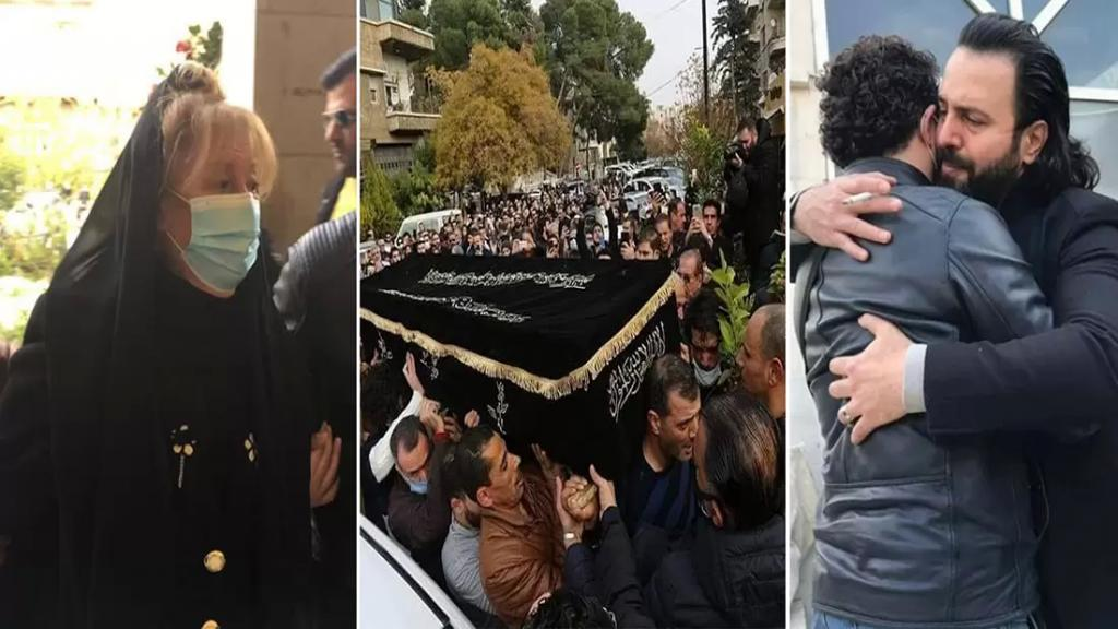 بالصور/ نجوم سوريا شاركوا في تشييع المخرج الراحل حاتم علي في دمشق