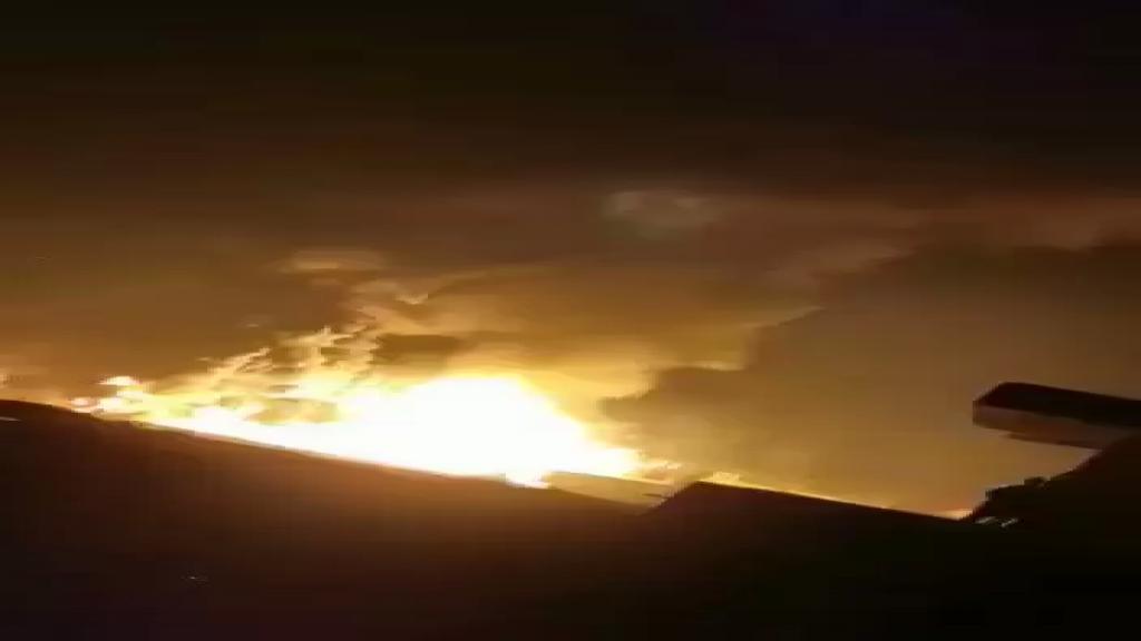 فيديو جديد للإنفجار الضخم بمستودع المحروقات في منطقة القصر بالهرمل