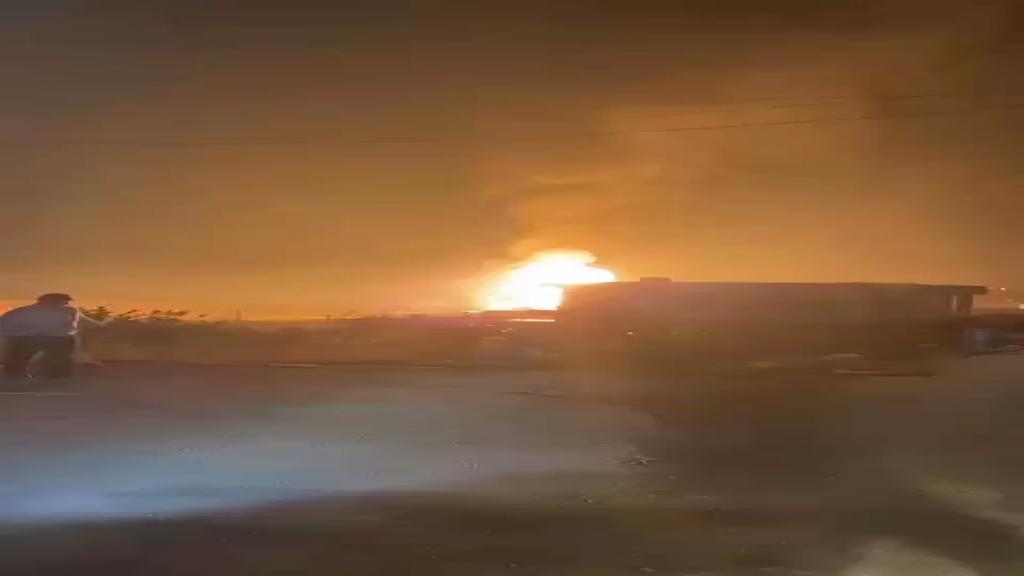 فيديو آخر متداول للانفجار في مستودع لقوارير الغاز في بلدة القصر - الهرمل