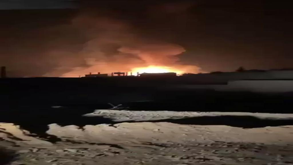 بالفيديو / إنفجار مستودع لقوارير الغاز في بلدة القصر الحدودية