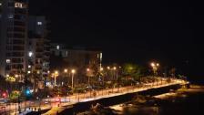 """بالصور/ الكورنيش البحري لـ """"بيروت"""" خالٍ في اليوم الأول من الاغلاق التام"""