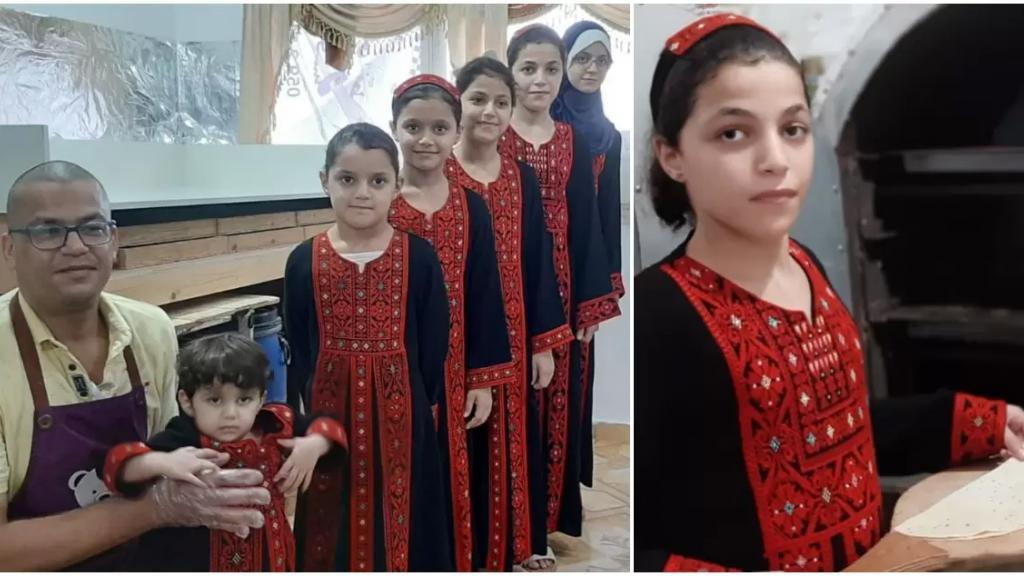 """بالفيديو/ في غزة... داوود الأب لـ6 فتيات يواجه البطالة وعبارة """"الله يعوضك بولد!"""" بـ """"مخبز البنات الـ6"""""""