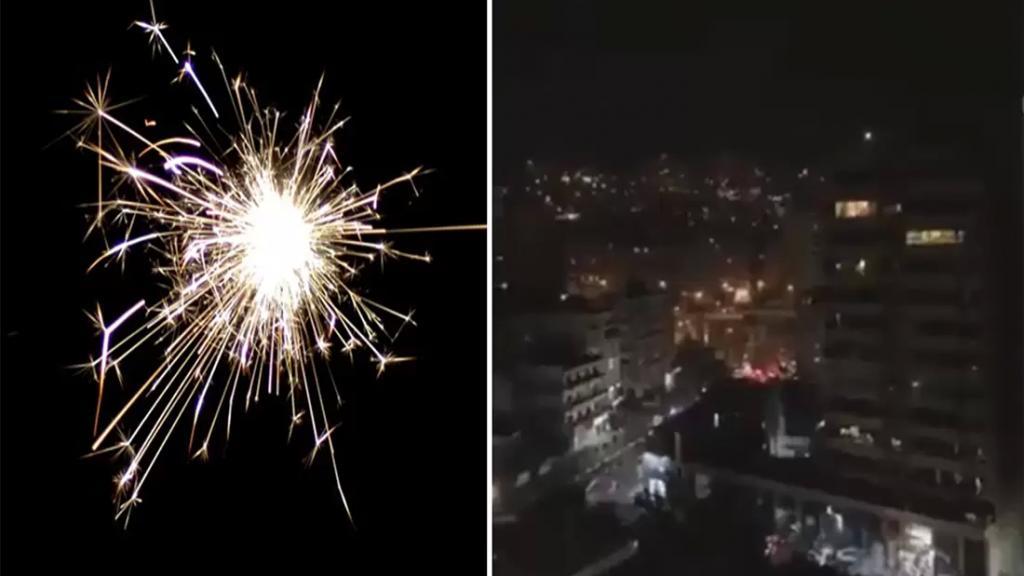"""فيديو متداول/ """"زفة"""" ومفرقعات وسط الإقفال العام في بيروت!"""