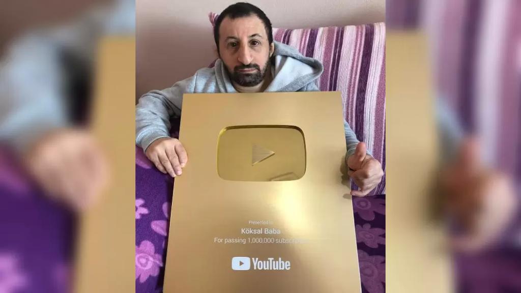 نجم مواقع التواصل الإجتماعي التركي كوكسال بابا يحصد تكريماً من يوتيوب بعد تخطيه المليون متابع