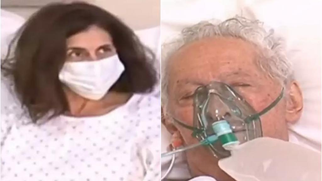 """بالفيديو/ من العناية الفائقة... ميرا ووالدها التسعيني يرويان معاناتهما مع كورونا: """"العالم لي عم يستخفوا بالفيروس مجانين.. ونحنا كنا مجانين لأن عزمنا العيلة"""""""