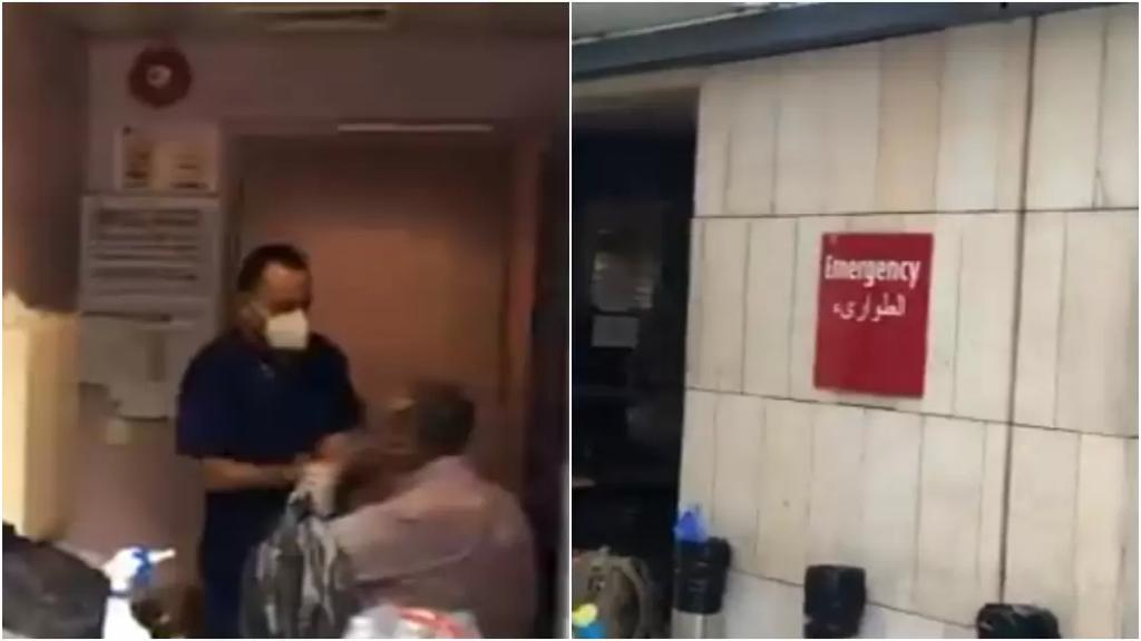 بالفيديو/ مرضى تتم معالجتهم على أبواب أقسام الطوارئ في مستشفيات لبنان