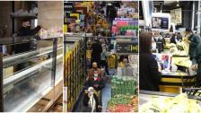 بالصور/ لقطات للتهافت الجنوني على السوبرماركت اليوم!