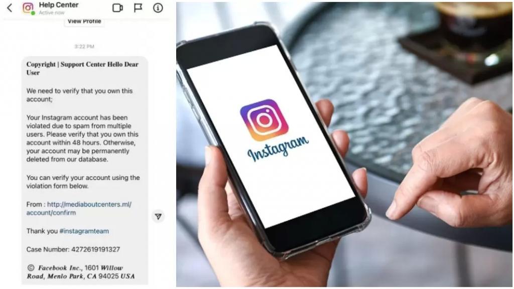 """قوى الامن تحذر: حساب ينتحل صفة ادارة موقع إنستغرام """"Instagramhelpcenter"""" ويعمل على قرصنة الحسابات تمهيداً لاستخدامها في أعمال احتيالية"""