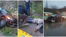 بالصور/ سقوط إصابات من مسعفي فريق تابع لجمعية الرسالة للإسعاف الصحي بحادث سير بين سيارة إسعاف وسيارتين على أوتوستراد الجنوب الأنصارية