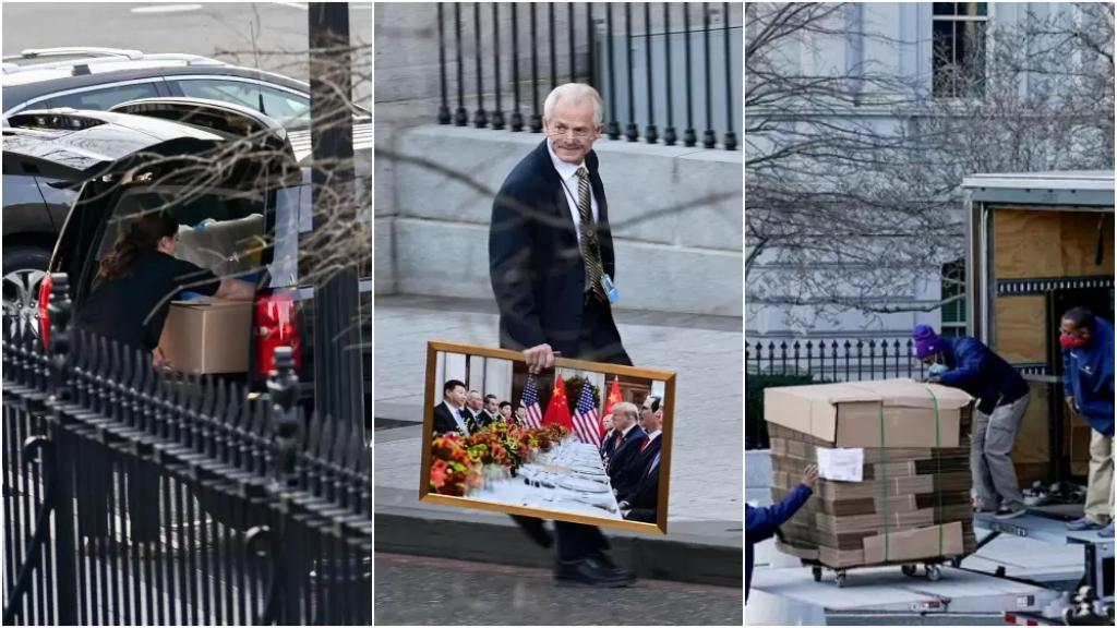 بالصور/ ترامب يحزم أمتعته من البيت الأبيض قبل أن تبدأ إدارة بايدن حملة تنظيف شاملة!