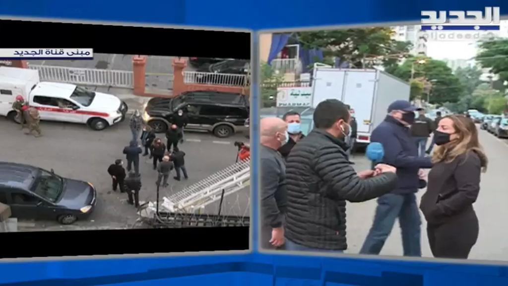 دورية من مخابرات الجيش تحاول توقيف الصحافي رضوان مرتضى من مبنى تلفزيون الجديد